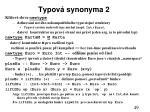 typov synonyma 2