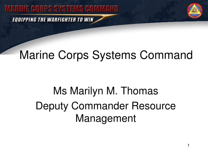 marine corps systems command n.