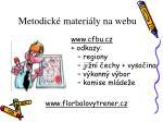 metodick materi ly na webu