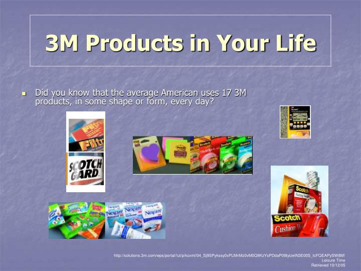 3M Products in Your Life
