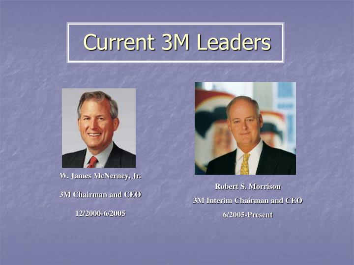 Current 3M Leaders