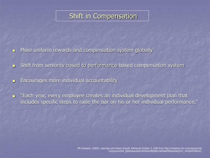 Shift in Compensation