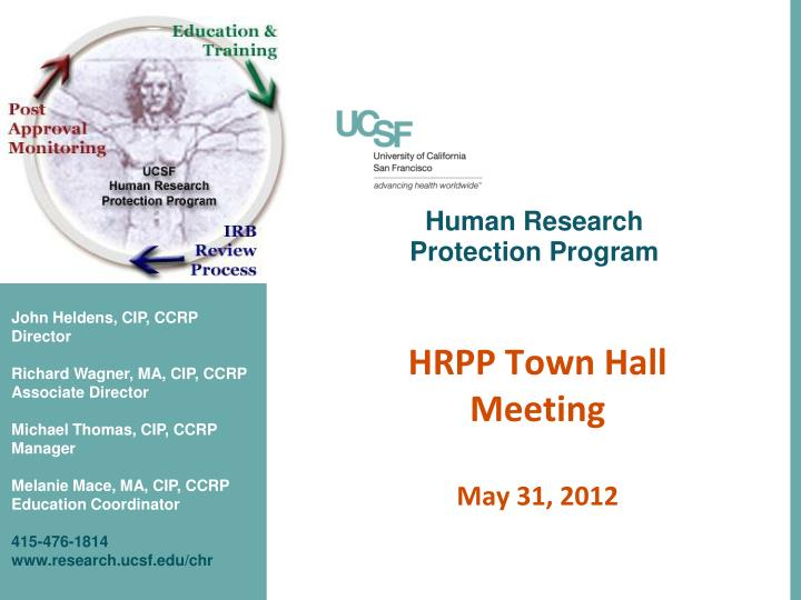 human research protection program n.