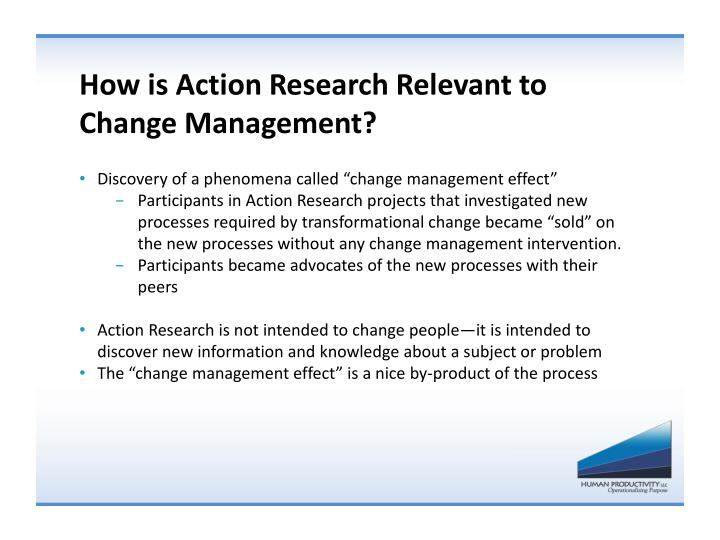 How is Action Research Relevant to Change Management?