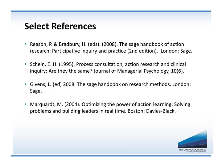 Select References