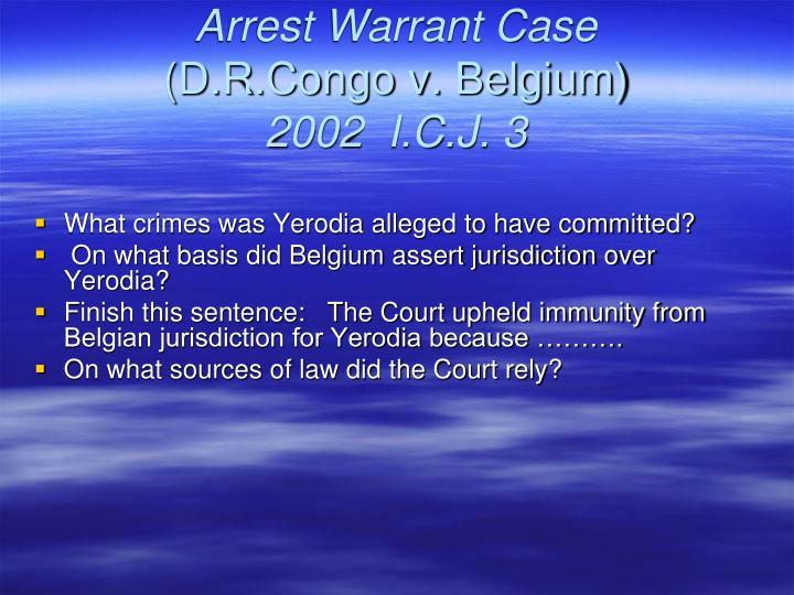 Arrest Warrant Case