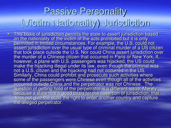 Passive Personality