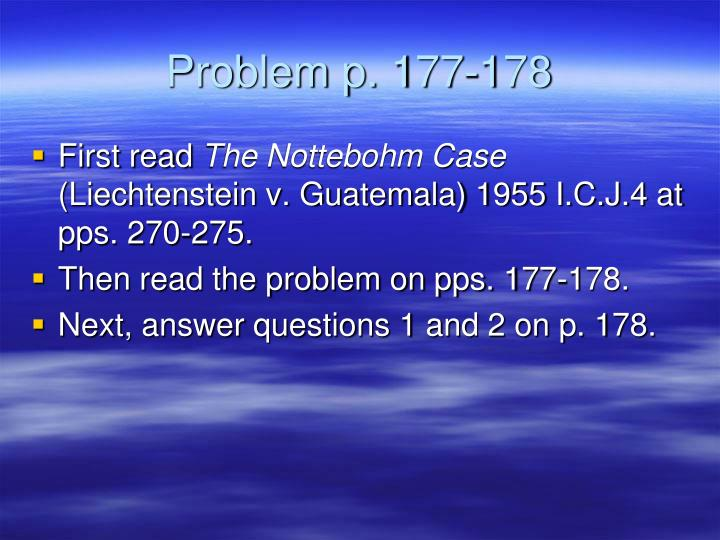 Problem p. 177-178