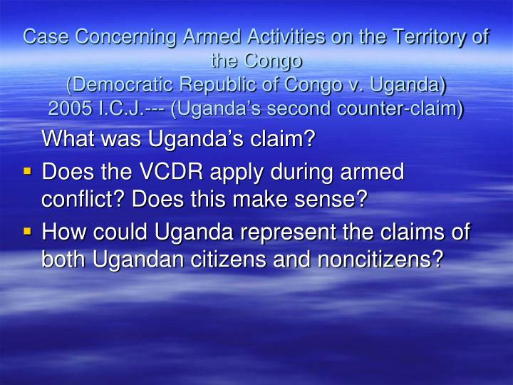 Case Concerning Armed Activities on the Territory of the Congo