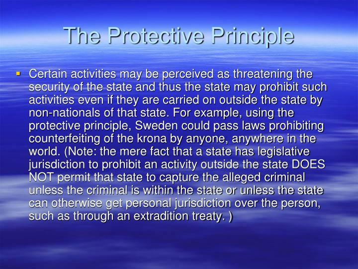 The Protective Principle