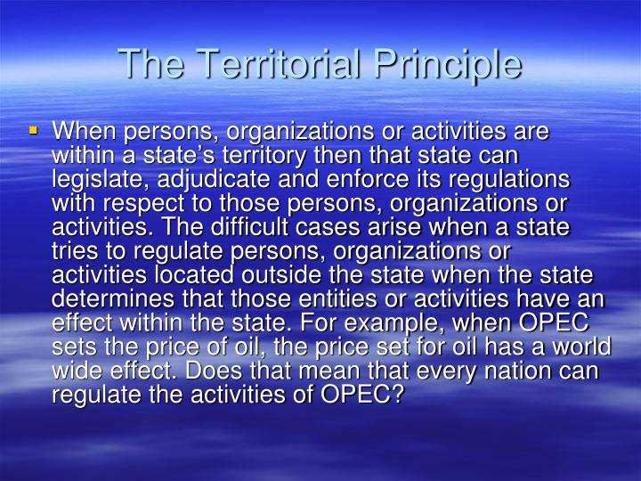 The territorial principle
