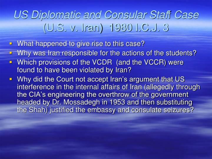 US Diplomatic and Consular Staf