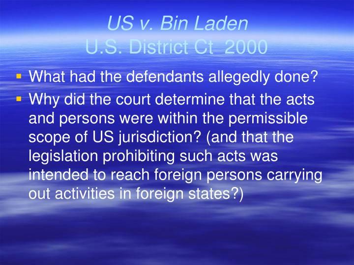 US v. Bin Laden