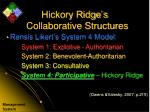 hickory ridge s collaborative structures