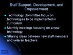 staff support development and empowerment