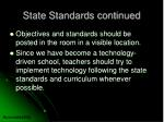 state standards continued