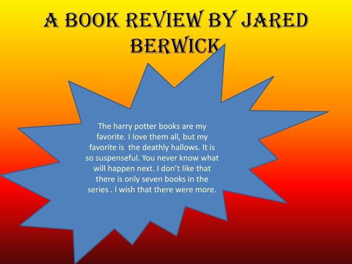 A book review by Jared Berwick