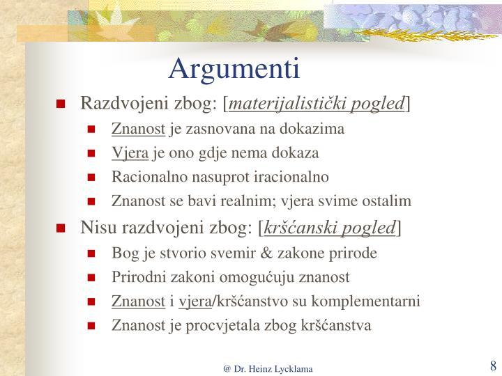 Argumenti