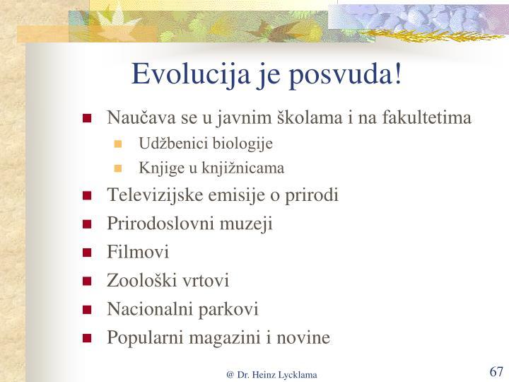 Evolucija je posvuda