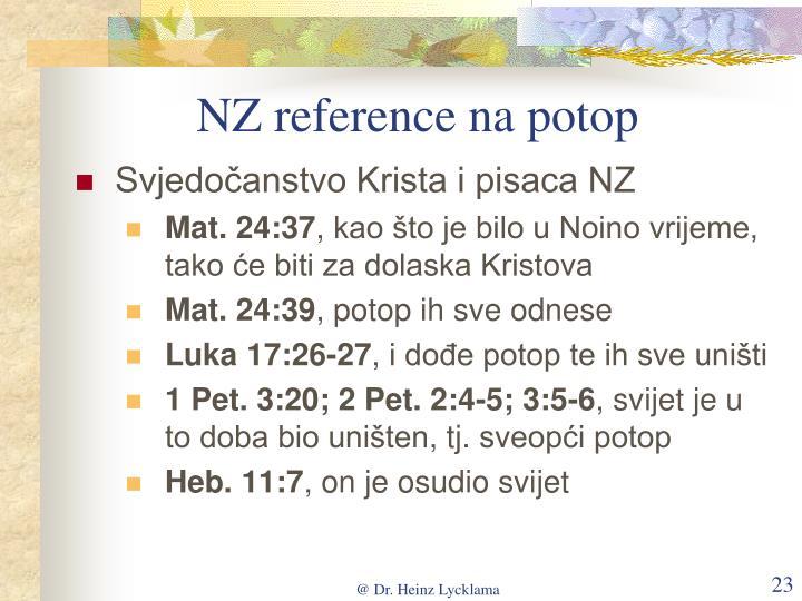 NZ reference na potop