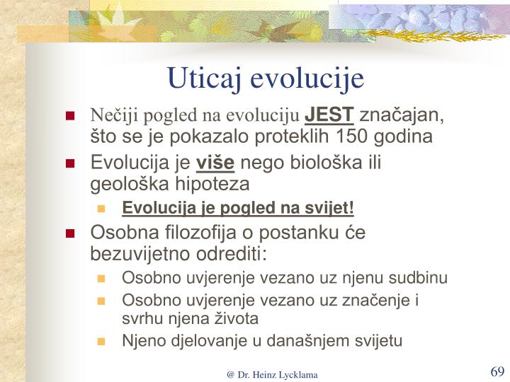 Uticaj evolucije