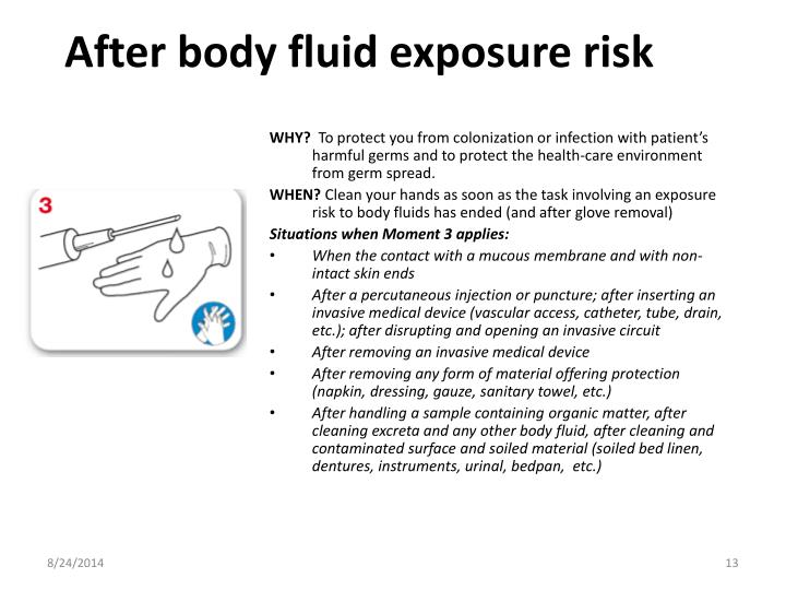 After body fluid exposure risk