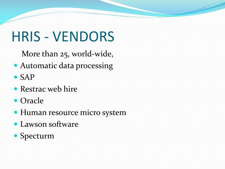 PPT - Human resource information system (HRIS) PowerPoint ...