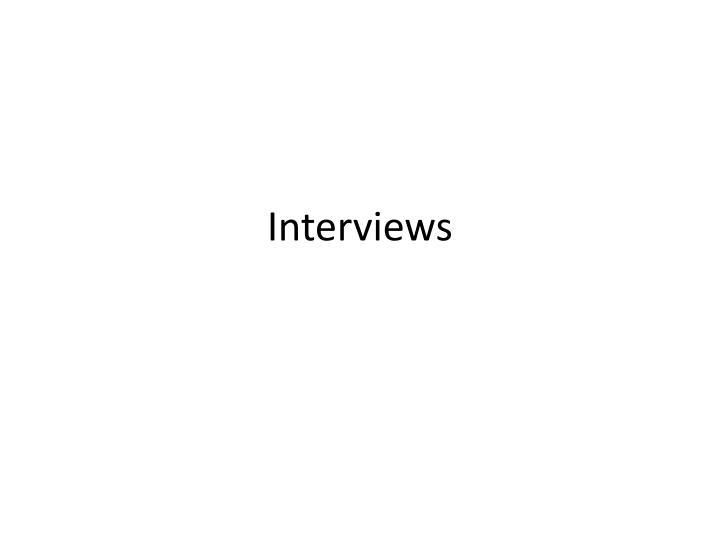 interviews n.