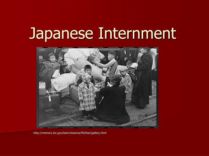 japanese internment n.