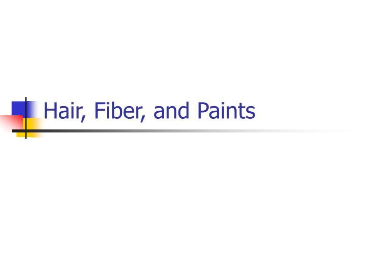 hair fiber and paints n.