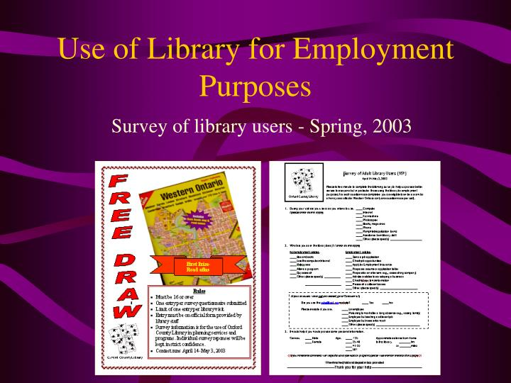 Use of Library for Employment Purposes