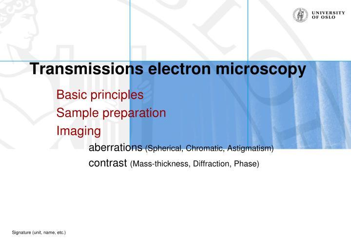 transmissions electron microscopy n.
