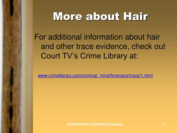 More about Hair
