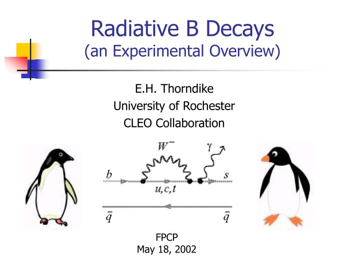 radiative b decays an experimental overview n.