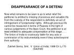 disappearance of a detenu