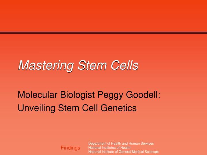 mastering stem cells n.