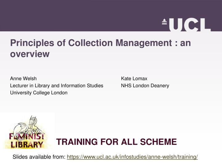 Principles of collection management an overview