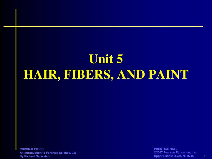 unit 5 hair fibers and paint n.