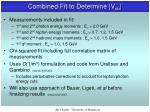 combined fit to determine v cb