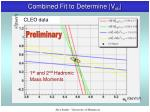 combined fit to determine v cb4