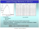 lepton energy moments in b x c l n4
