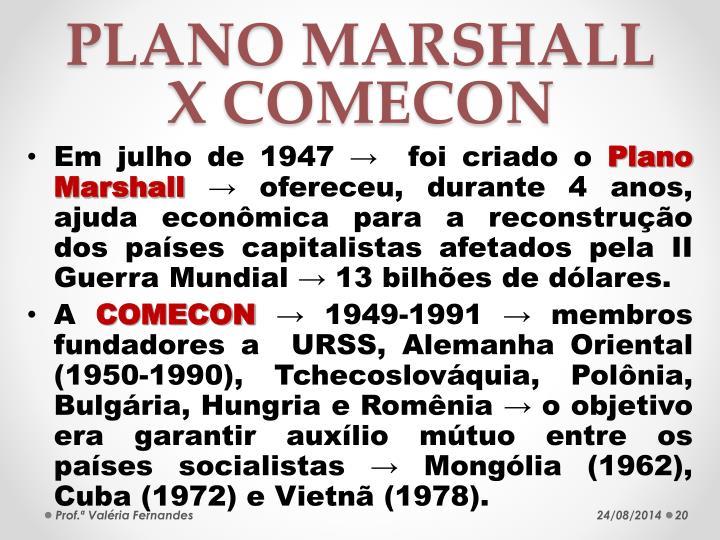 PLANO MARSHALL X COMECON