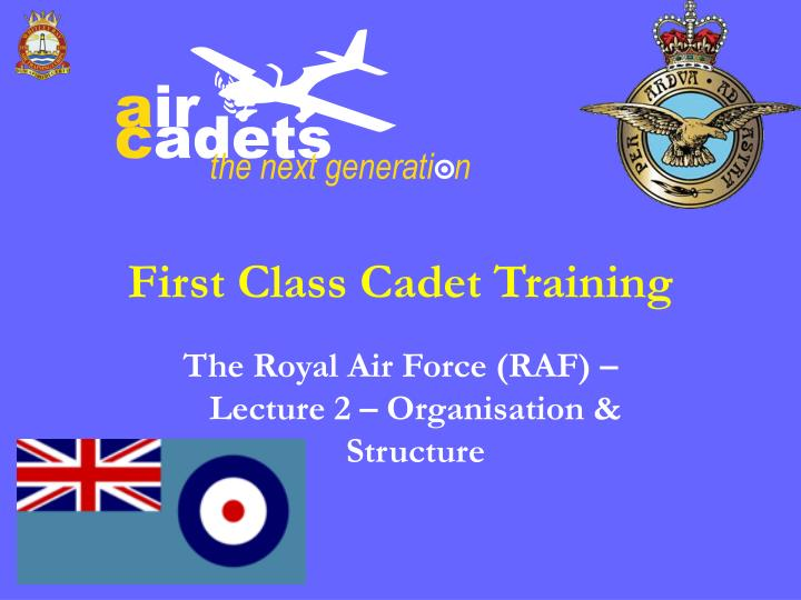 Ppt First Class Cadet Training Powerpoint Presentation Id3531801