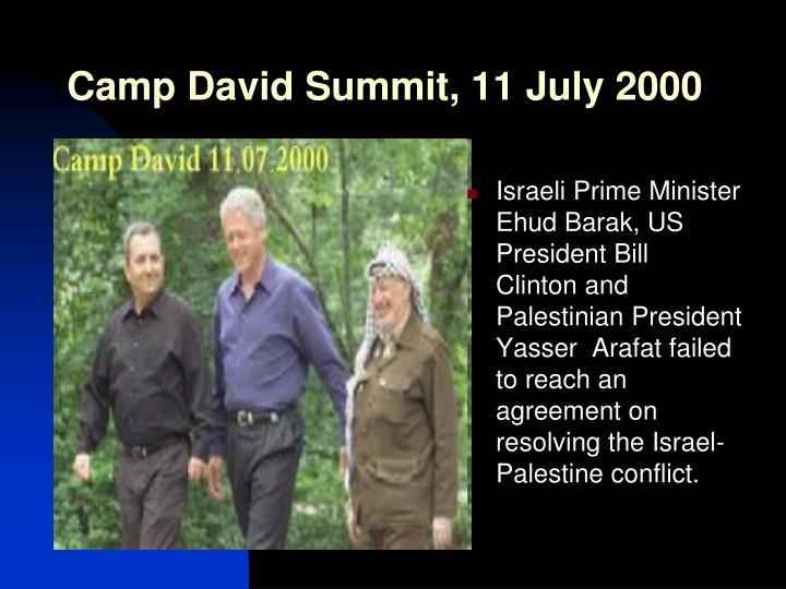 Camp David Summit, 11 July 2000