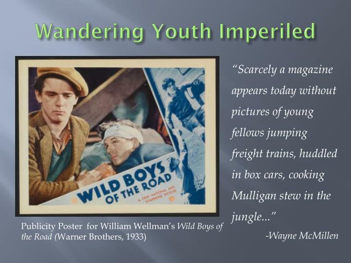 wandering youth imperiled n.