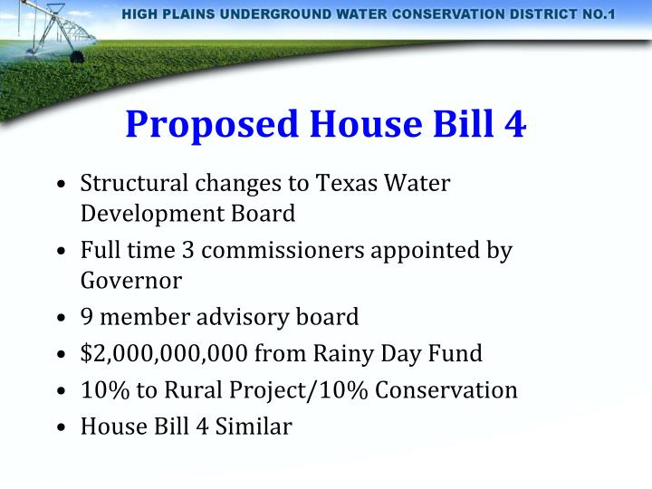 Proposed House Bill 4