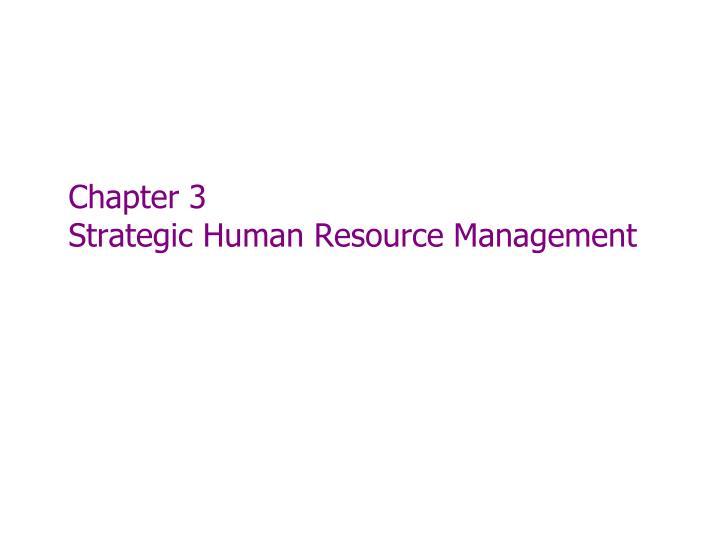 chapter 3 strategic human resource management n.
