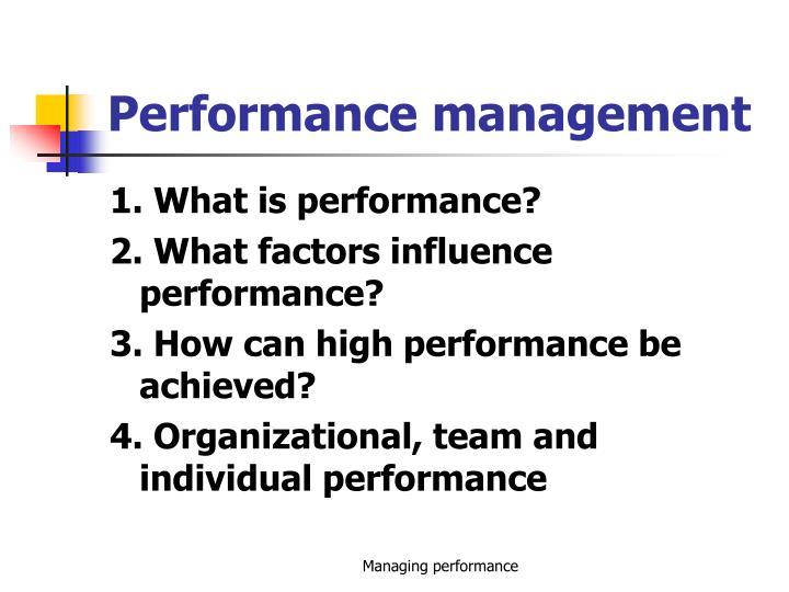 performance management n.