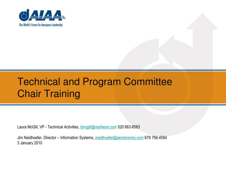 technical and program committee chair training n.