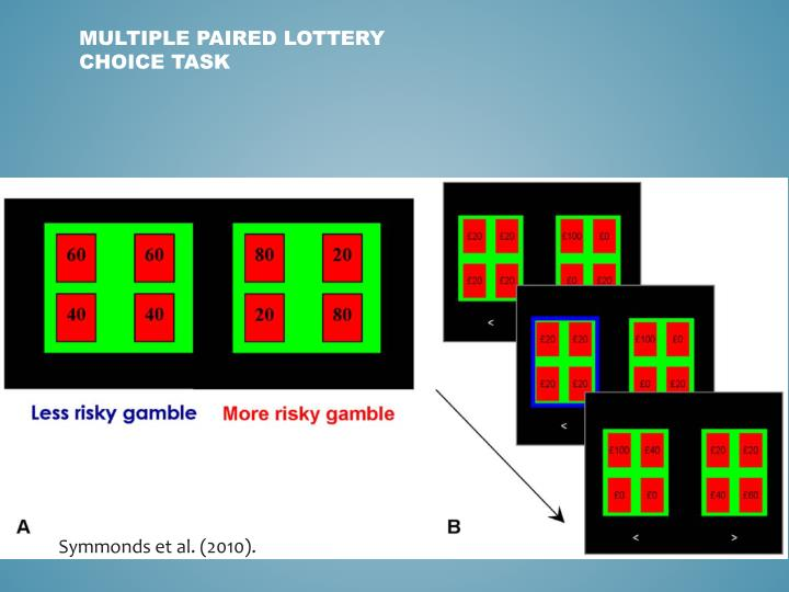 Multiple Paired Lottery Choice Task